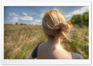 Girl In The Field HD Wide Wallpaper for Widescreen