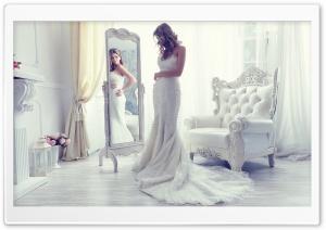 Girl in Wedding Dress HD Wide Wallpaper for Widescreen