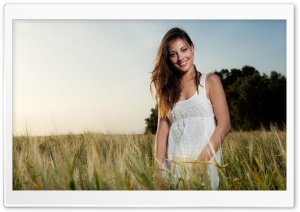 Girl In Wheat Field HD Wide Wallpaper for Widescreen
