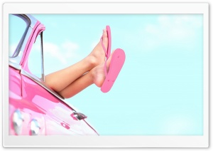 Girl Leg Pink HD Wide Wallpaper for Widescreen