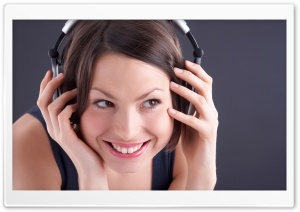 Girl Listening To Music HD Wide Wallpaper for Widescreen
