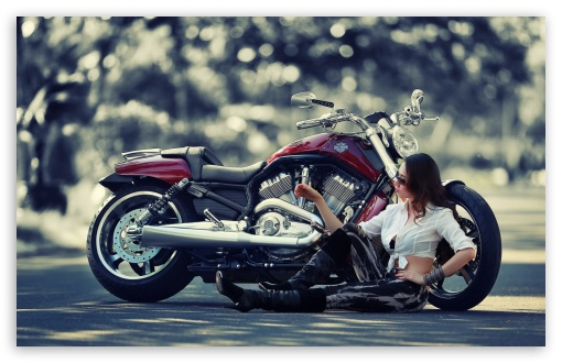 Girl Motorcycle HD wallpaper for Wide 16:10 5:3 Widescreen WHXGA WQXGA WUXGA WXGA WGA ; HD 16:9 High Definition WQHD QWXGA 1080p 900p 720p QHD nHD ; Standard 4:3 3:2 Fullscreen UXGA XGA SVGA DVGA HVGA HQVGA devices ( Apple PowerBook G4 iPhone 4 3G 3GS iPod Touch ) ; iPad 1/2/Mini ; Mobile 4:3 5:3 3:2 16:9 - UXGA XGA SVGA WGA DVGA HVGA HQVGA devices ( Apple PowerBook G4 iPhone 4 3G 3GS iPod Touch ) WQHD QWXGA 1080p 900p 720p QHD nHD ;