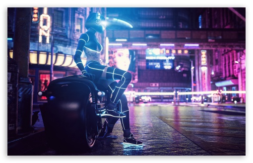 Girl Motorcycle Streets Art Ultra Hd Desktop Background Wallpaper For 4k Uhd Tv Widescreen Ultrawide Desktop Laptop Tablet Smartphone