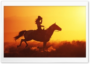 Girl On Horse HD Wide Wallpaper for Widescreen
