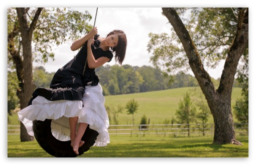 Girl On Tire Swing HD wallpaper for Wide 16:10 5:3 Widescreen WHXGA WQXGA WUXGA WXGA WGA ; HD 16:9 High Definition WQHD QWXGA 1080p 900p 720p QHD nHD ; Standard 4:3 5:4 3:2 Fullscreen UXGA XGA SVGA QSXGA SXGA DVGA HVGA HQVGA devices ( Apple PowerBook G4 iPhone 4 3G 3GS iPod Touch ) ; Tablet 1:1 ; iPad 1/2/Mini ; Mobile 4:3 5:3 3:2 16:9 5:4 - UXGA XGA SVGA WGA DVGA HVGA HQVGA devices ( Apple PowerBook G4 iPhone 4 3G 3GS iPod Touch ) WQHD QWXGA 1080p 900p 720p QHD nHD QSXGA SXGA ;