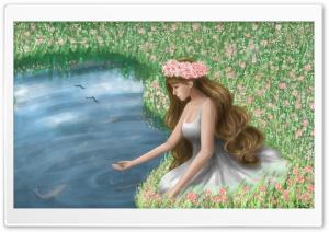 Girl Painting Art Ultra HD Wallpaper for 4K UHD Widescreen desktop, tablet & smartphone