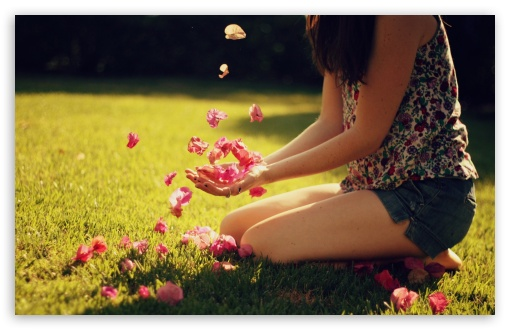 Girl Playing With Flowers HD wallpaper for Wide 16:10 5:3 Widescreen WHXGA WQXGA WUXGA WXGA WGA ; HD 16:9 High Definition WQHD QWXGA 1080p 900p 720p QHD nHD ; Standard 4:3 5:4 3:2 Fullscreen UXGA XGA SVGA QSXGA SXGA DVGA HVGA HQVGA devices ( Apple PowerBook G4 iPhone 4 3G 3GS iPod Touch ) ; Tablet 1:1 ; iPad 1/2/Mini ; Mobile 4:3 5:3 3:2 16:9 5:4 - UXGA XGA SVGA WGA DVGA HVGA HQVGA devices ( Apple PowerBook G4 iPhone 4 3G 3GS iPod Touch ) WQHD QWXGA 1080p 900p 720p QHD nHD QSXGA SXGA ;