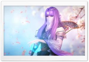 Girl, Sakura Ultra HD Wallpaper for 4K UHD Widescreen desktop, tablet & smartphone