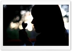 Girl Silhouette HD Wide Wallpaper for Widescreen