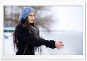 Girl, Winter HD Wide Wallpaper for Widescreen