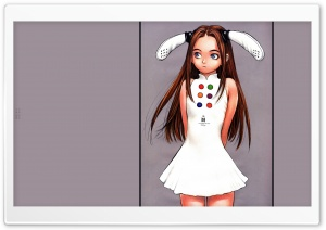 Girl With Bunny Ears Drawing, Anime HD Wide Wallpaper for Widescreen