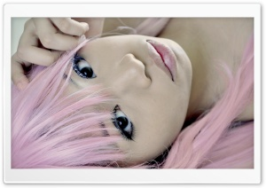 Girl With Pink Hair HD Wide Wallpaper for Widescreen