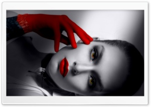 Girl With Red Glove HD Wide Wallpaper for Widescreen