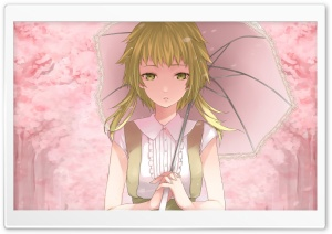 Girl With Umbrella HD Wide Wallpaper for Widescreen