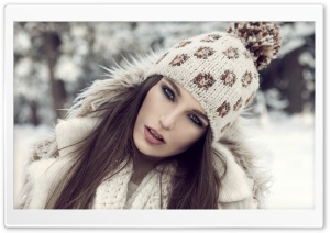 Girl With Winter Hat HD Wide Wallpaper for 4K UHD Widescreen desktop & smartphone