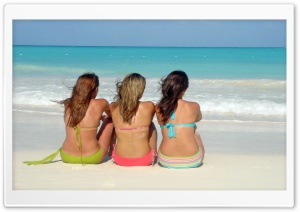 Girls On The Beach HD Wide Wallpaper for Widescreen