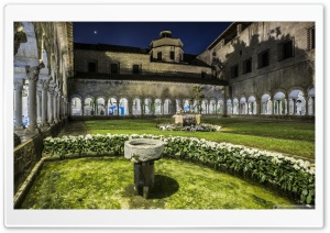 Girona Cathedral Cloisters Catalonia Ultra HD Wallpaper for 4K UHD Widescreen desktop, tablet & smartphone