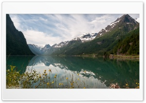 Glacial Lake. Norway HD Wide Wallpaper for 4K UHD Widescreen desktop & smartphone