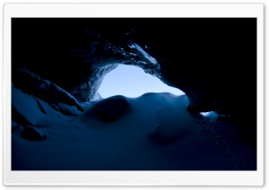 Glacier Cave HD Wide Wallpaper for Widescreen