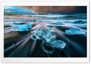Glacier Lagoon Iceland HD Wide Wallpaper for Widescreen