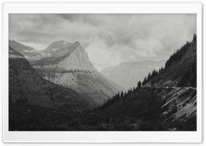 Glacier National Park Black and White Landscape Ultra HD Wallpaper for 4K UHD Widescreen desktop, tablet & smartphone