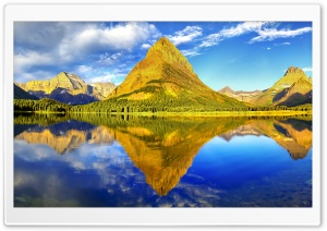 Glacier National Park Panorama HD Wide Wallpaper for 4K UHD Widescreen desktop & smartphone