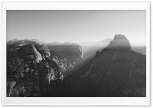 Glacier Point Yosemite National Park Black and White Ultra HD Wallpaper for 4K UHD Widescreen desktop, tablet & smartphone