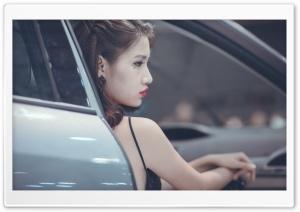 Glamour Female Model, Car, Photoshoot Ultra HD Wallpaper for 4K UHD Widescreen desktop, tablet & smartphone