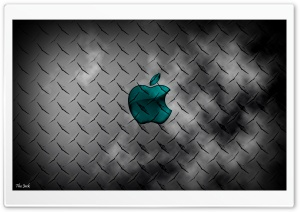 Glass Apple - Metal Background HD Wide Wallpaper for Widescreen