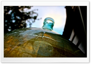Glass Bottle HD Wide Wallpaper for Widescreen