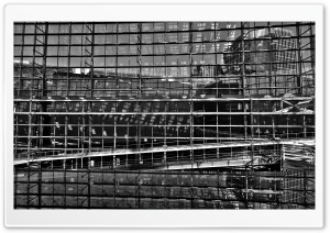 Glass Building Black and White HD Wide Wallpaper for Widescreen
