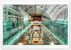 Glass Building Interior HDR HD Wide Wallpaper for 4K UHD Widescreen desktop & smartphone