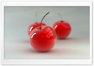 Glass Cherries HD Wide Wallpaper for Widescreen