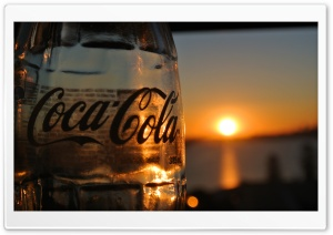 Glass Coke Sunset HD Wide Wallpaper for Widescreen