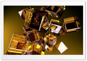 Glass Cubes HD Wide Wallpaper for Widescreen
