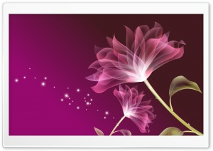 Glass Flower Pink HD Wide Wallpaper for Widescreen