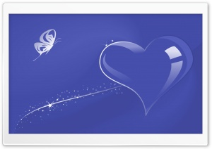 Glass Heart Blue HD Wide Wallpaper for Widescreen