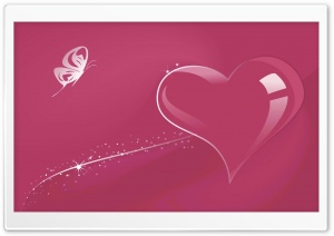 Glass Heart Pink HD Wide Wallpaper for Widescreen