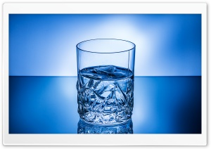 Glass Of Ice Water HD Wide Wallpaper for Widescreen