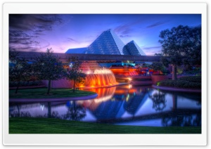 Glass Pyramids of Imagination HD Wide Wallpaper for Widescreen