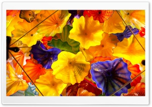 Glass Sculpture By Dale Chihuly HD Wide Wallpaper for 4K UHD Widescreen desktop & smartphone