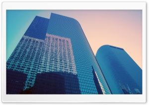 Glass Skyscrapers HD Wide Wallpaper for Widescreen