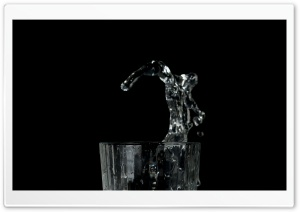 Glass Water Splash HD Wide Wallpaper for Widescreen