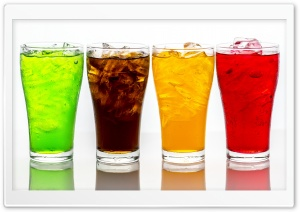 Glasses of Soda with Ice Cubes HD Wide Wallpaper for 4K UHD Widescreen desktop & smartphone