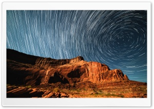 Glen Canyon, Star Trails, Astrophotography Ultra HD Wallpaper for 4K UHD Widescreen desktop, tablet & smartphone