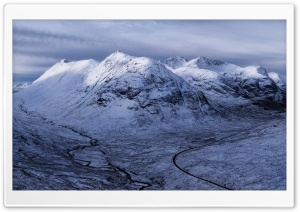 Glencoe Highlands Of Scotland, Winter HD Wide Wallpaper for 4K UHD Widescreen desktop & smartphone