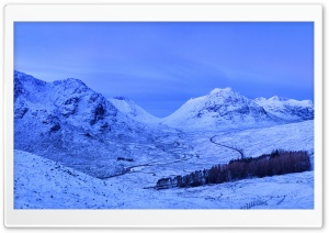 Glencoe Surrounded by Mountains, Scotland HD Wide Wallpaper for 4K UHD Widescreen desktop & smartphone