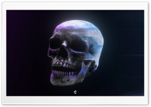 Glitch Art Style Skull HD Wide Wallpaper for Widescreen