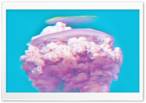 Glitch Pink Nuke Explosion Aesthetic Ultra HD Wallpaper for 4K UHD Widescreen desktop, tablet & smartphone