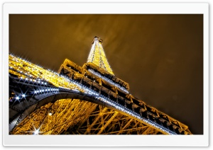 Glittering night in Paris HD Wide Wallpaper for 4K UHD Widescreen desktop & smartphone